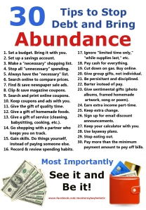 30 Tips to Stop Debt and Bring Abundance
