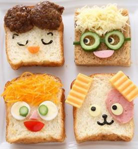 Sandwich funny faces
