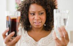Woman Chooses Drinks