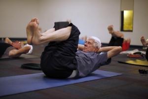 yoga older man