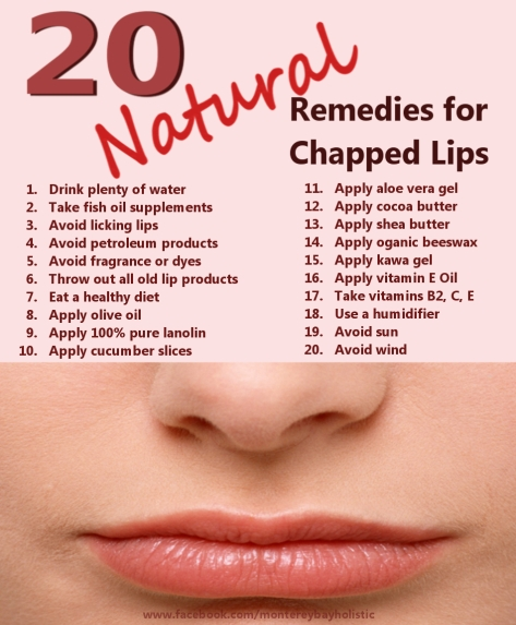20 Remedies Chapped Lips