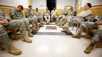 Cadets Meditating