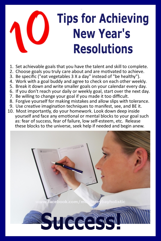 Tips for Keeping New Year's Resolutions