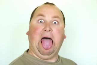 Man Sticking out Tongue