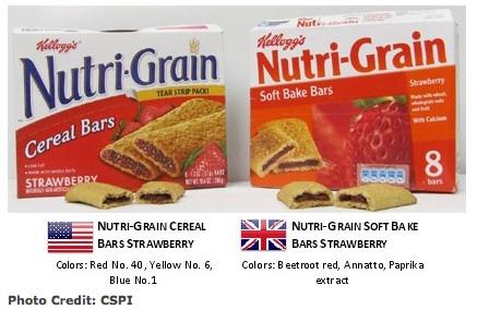 NutriGrain Britain and US