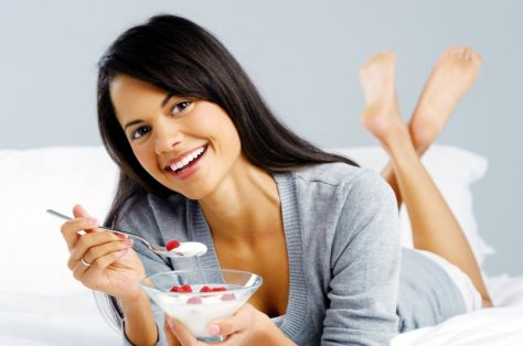 Woman yogurt