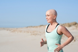 Cancer woman running