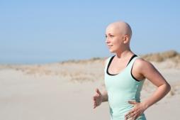 Cancer woman running