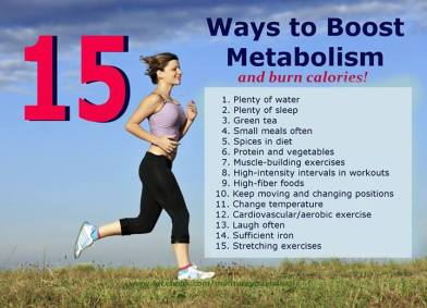 15 Ways to Boost Metabolism and Burn Calories