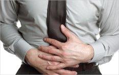 Man stomach ache