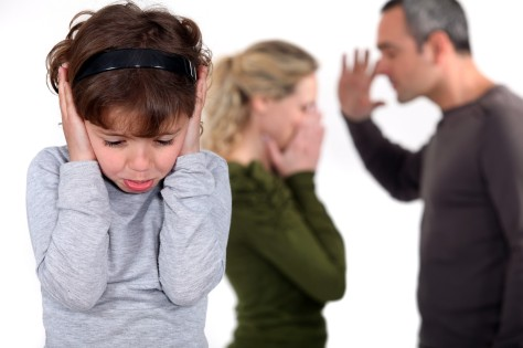 Young child frightened parents