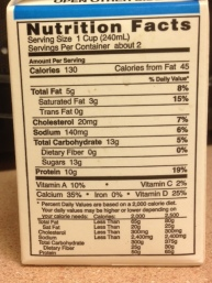 milk back label