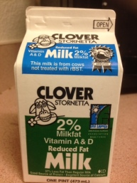 milk label