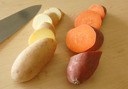 yam and sweet potato