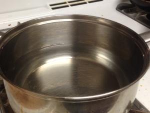 wate in pan