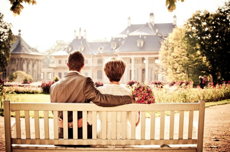 Couple Wedding Bench