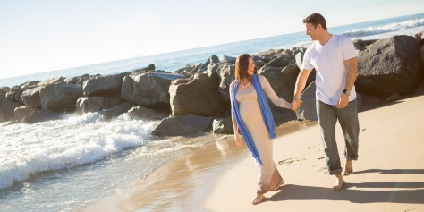 Pregnant Couple Beach