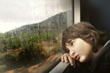 Depressed Child Rainy Day