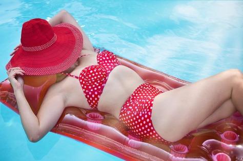 Summer Sunbathing Woman