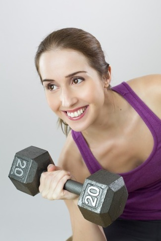Exercise Weights Woman
