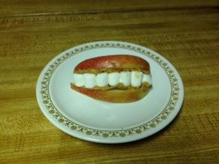 Marshmallow teeth