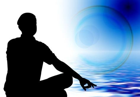 man meditate